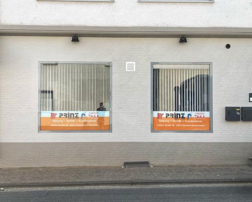 Die neuen Geschäftsräume der Firma Prinz auf der Kölner Straße in Heimerzheim (Foto: Frank Kuczinski/SSV Heimerzheim)
