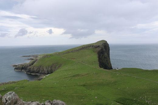 Der erste Blick auf die Halbinsel Neist Point