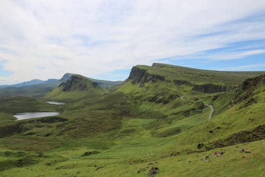 Der Quiraing, eine beeindruckende Felsformation auf der Isle of Skye