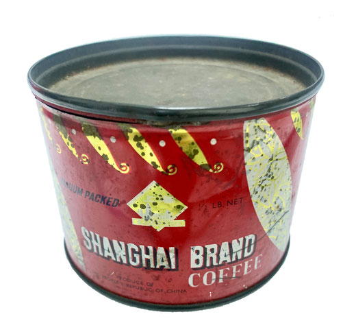 Shanghai Brand Coffee in tin can (from the MOFBA collection)