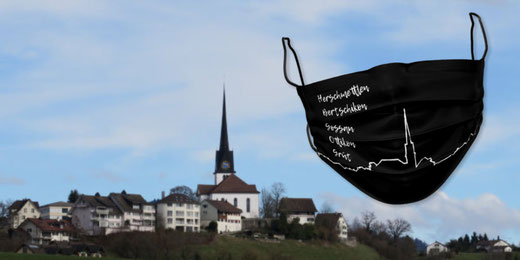 Bei der Gemeinde Gossau ZH kann man neu Gesichtsmasken kaufen. Bild: zvg/bunts.ch