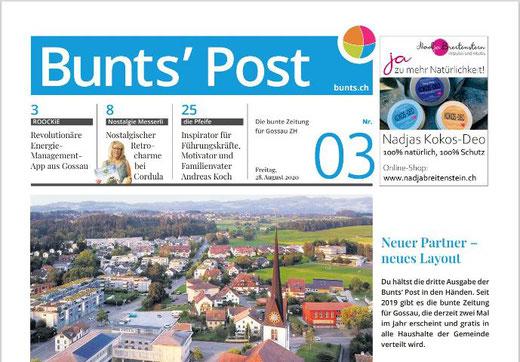 Die dritte Ausgabe der Bunts' Post ist am 28. August 2020 erschienen.
