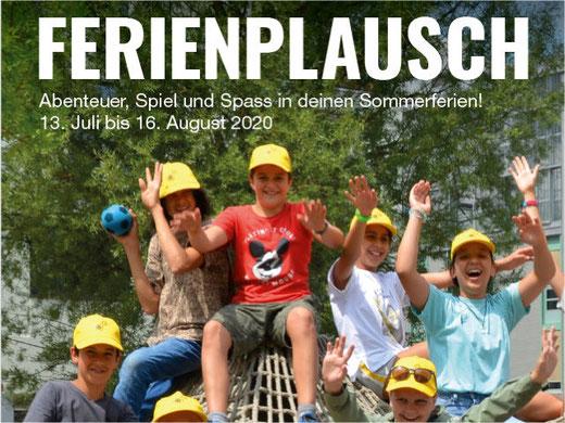 Der Sommer-Ferienplausch 2020 soll stattfinden. Bild: Info-Flyer pro Juventute Ferienplausch