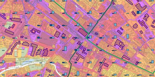 GIS-Browserkarte «Hitzebelastung im Strassenraum». Bild: Kanton Zürich