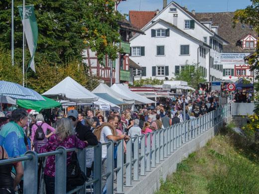 Zu enge Platzverhältnisse in der aktuellen Situation: Grüninger Landvogteimarkt. Bild: landvogteimarkt.ch