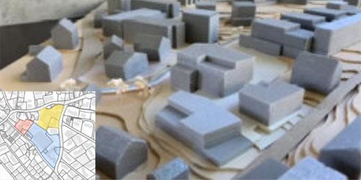 Im Zentrum von Gossau ZH soll eine neue Wohnüberbauung entstehen. Bild: Gemeinde Gossau ZH