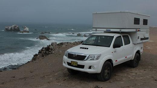 Mit dem Campervan an der Küste Perus