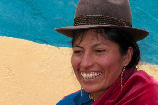 Gesichter der Anden mit ecuadorline