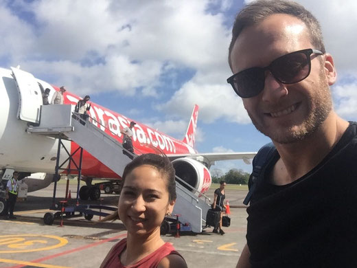 Flug Singapur nach Bali Denpasar mit Air Asia.