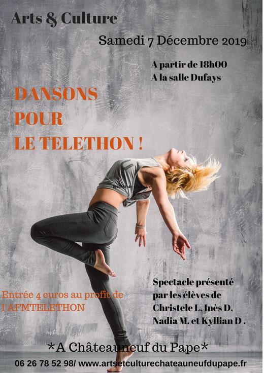 chateauneuf du pape /telethon 2019/ ARTS ET CULTURE/ Spectacle de danse
