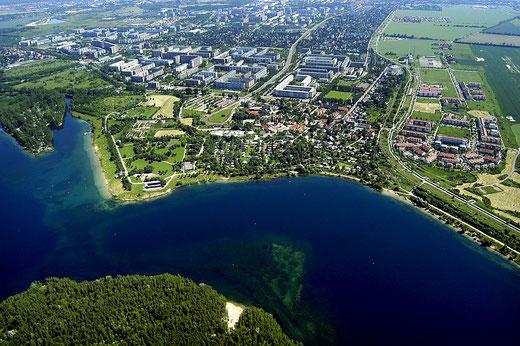 Luftaufnahme Kulkwitzer See, Leipzig-Grünau