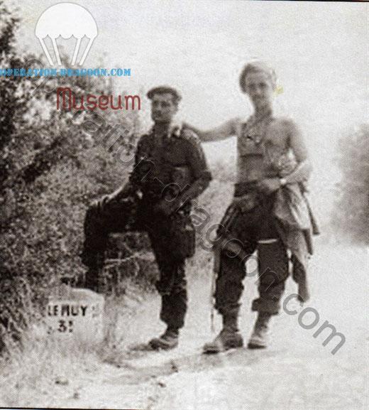 "Lt ""Dumbo"" WILLANS and Capt Peter BAKER, near LE MITAN ( LA MOTTE ), August 1944"