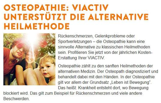 VIACTIV Krankenkasse: Osteopathie zählt zu den sanften Heilmethoden der alternativen Medizin.