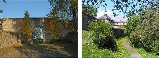 Torbogen - Haupteingang und der Rundeweg