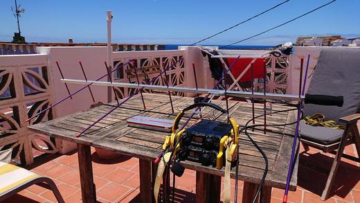 Das komplette LEO-Sat Setup auf El Hierro (EA8/HB9WDF)