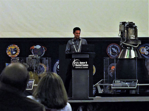 Justin Foley KI6EPH als Keynote Speaker am AMSAT Symposium 2018, Huntsville, AL