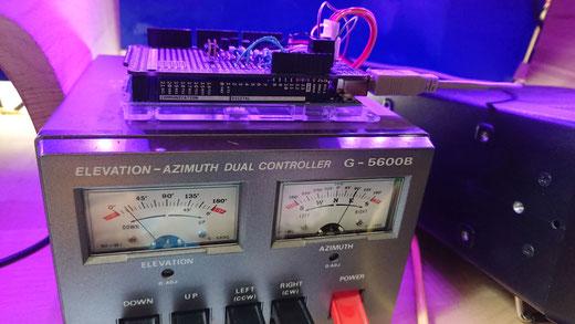 Der Arduino hat nun die Kontrolle über den G-5600 übernommen
