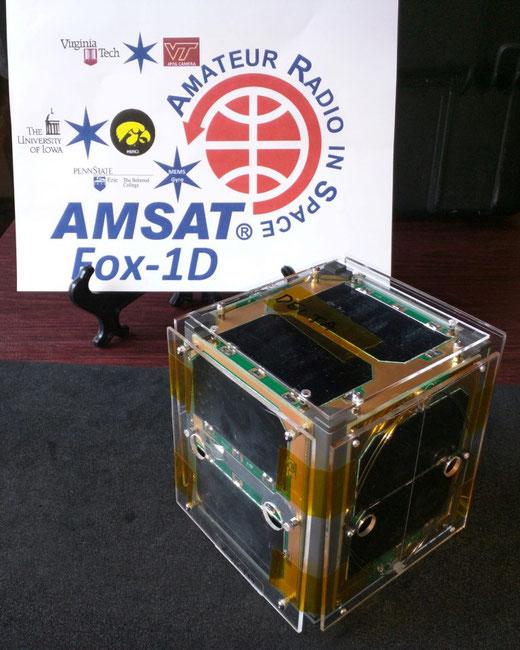 AO-92 / FOX-1D  -  Bild credits www.amsat.org