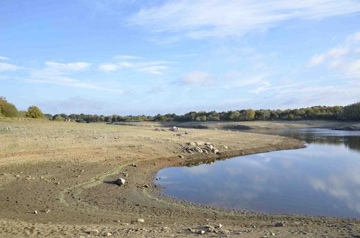 Vue d'ensemble du lac de la Bulitère en octobre 2016.