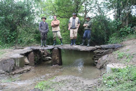 2013 : fin de la restauration du pont de la Limouzinière (La Chaize le Vicomte - 85)