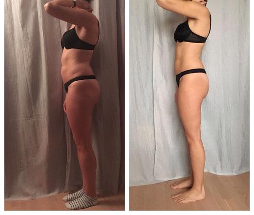 Vor und Nachher Bild Stoffwechselkur Body