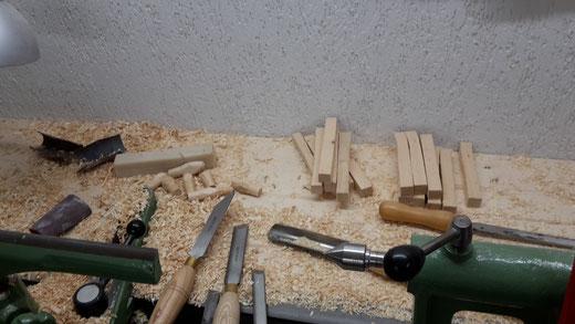 Späne in der Werkstatt (Foto D. Mohr)