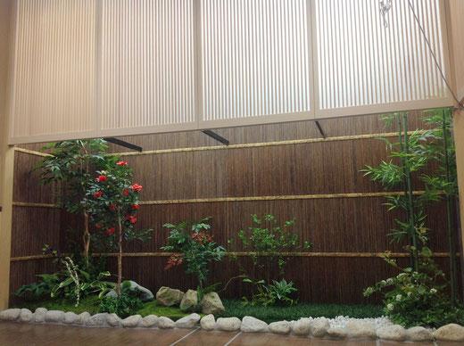 フェイクグリーンの和庭園製作