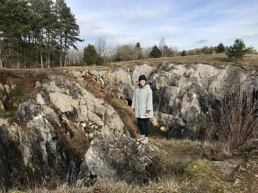 Simone vom outzeit-blog, auf Tour durch die Natur