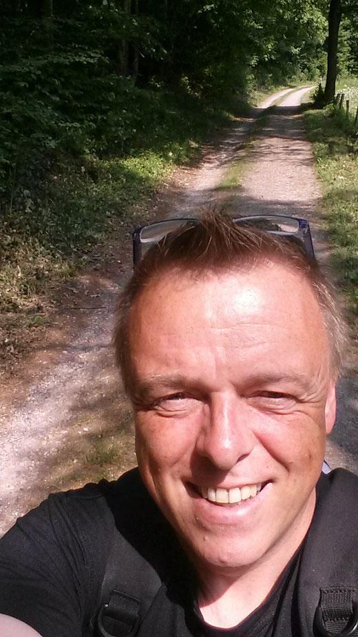 Der Autor unterwegs auf dem Eifelsteig