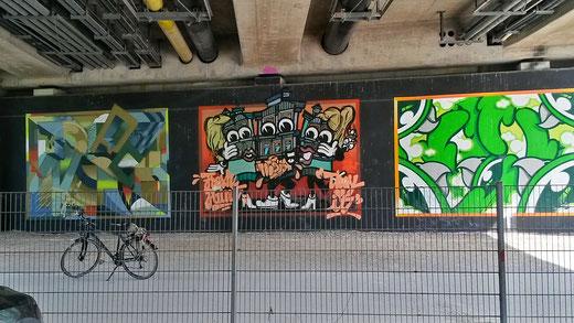 Mein Fahrrad zur Vermittlung der Größenverhältnisse der open street art