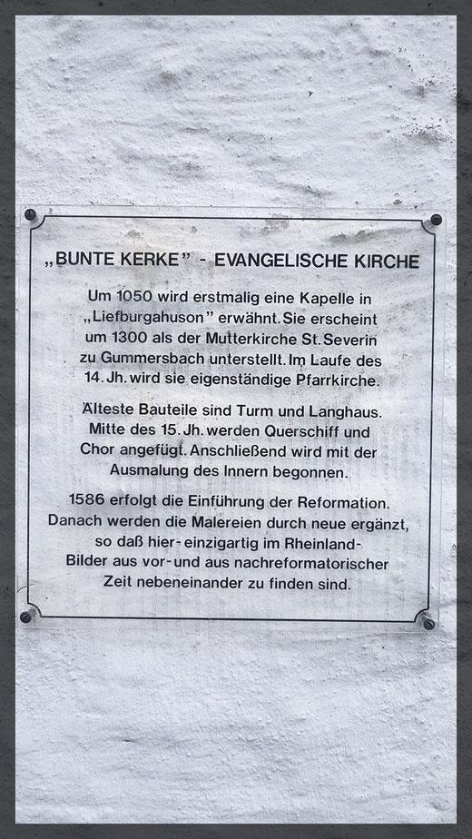 Anschlag an der Kirchentüre in Lieberhausen