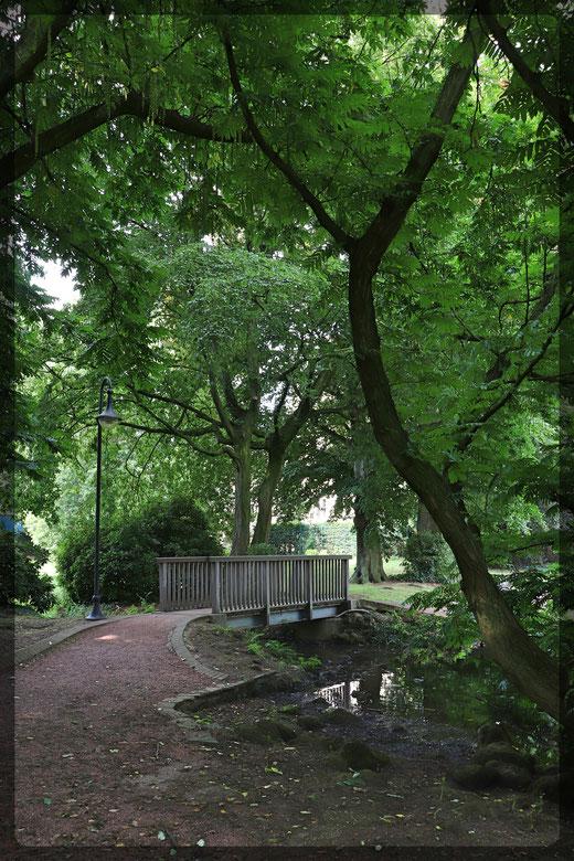 Im Schlosspark von Burg Ingenhoven in Lobberich
