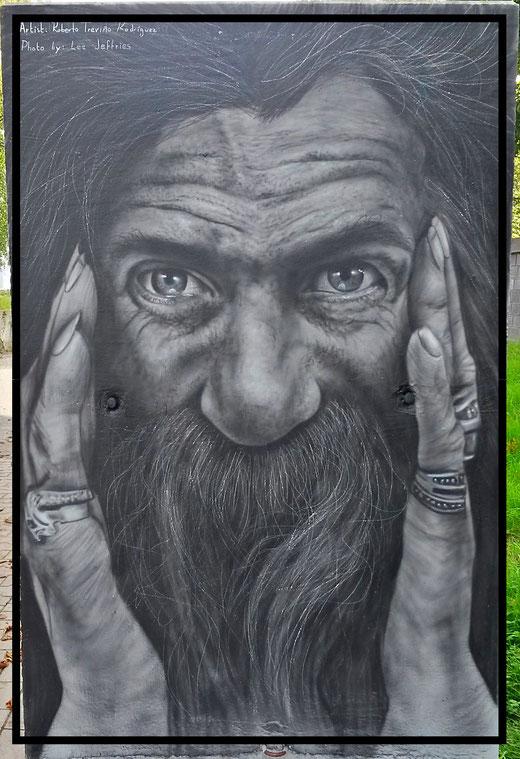 Mannshohes Kopfporträt