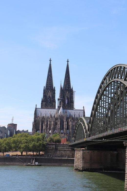 Hohenzollernbrücke und Dompanorama