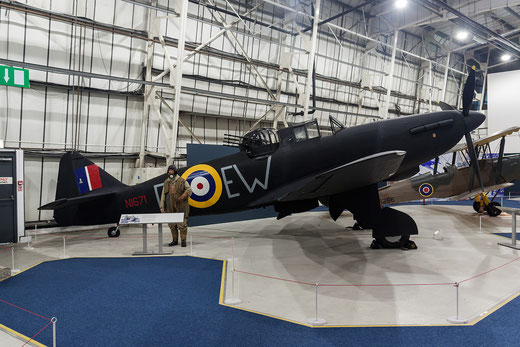 Defaiant Mk1 nel museo di Hendon