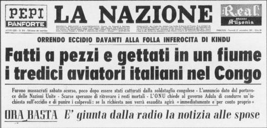 Titolo della Nazione, pochi giorni dopo il massacro (foto La Nazione)