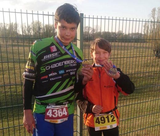 Zwei Brüder beim Magdeburg-Marathon: René und André Ulrich aus Genthin. Foto: Alpha-Report