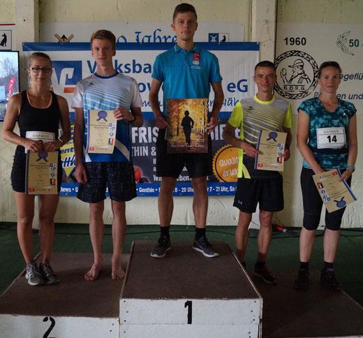 Der Genthiner Laufsportler Paul Weinmann ist der einzige Athlet, der drei Sport-trifft-Kunst-Gemälde gewonnen hat. Foto: Alpha-Report
