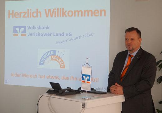 Volksbank-Vorstand Stefan Hildebrand. Foto: Alpha-Report