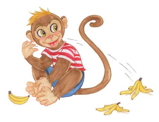 Affe Pepe, Kinderbuchillustration