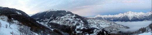 Chalet les Gires - vue hiver Dent-de-Nendaz