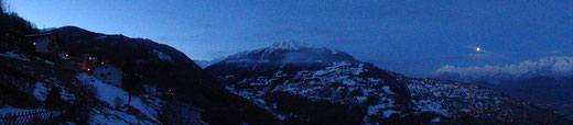 Panorama - soir d'hiver