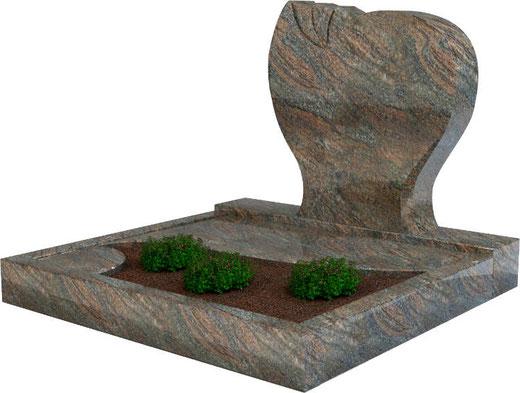 Steinmetz Pasewalk - Urnengrab Paradiso mit Abdeckplatte