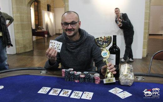Sébastien CHABOT du club d'Angouleme remporte la 5ème édition du Tournoi REGIS GIBERT avec brio