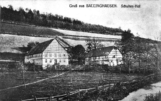 Der Schultenhof um 1915: Hier arbeitete Karolina zwölf Jahre als Magd.