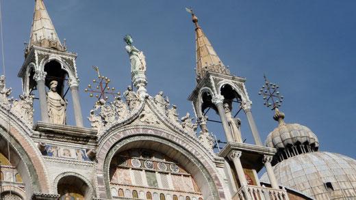 Das Dach der Markuskirche, der Chiesa di San Marco