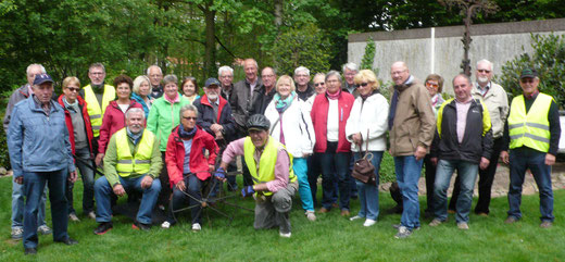 Gruppenbild der Radlergruppe - Foto: Theo Sander