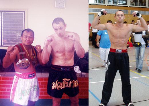 links mit 95 Kg im WPT Gym Master Pimu, rechts mit 78 Kg Bavaria Cup 2005
