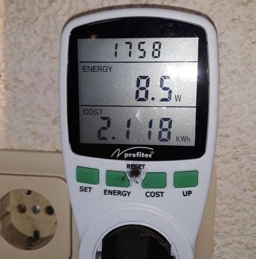 Leben mit der Energiewende TV - Strommessgerät am Steckdosenmodul