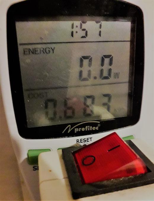 Leben mit der Energiewende TV - Strommessgerät an Waschmaschine
